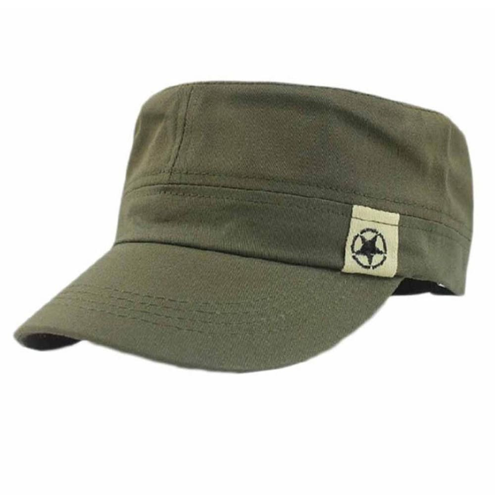 Military Hat Cap Army Cadet Mens Womens Casual Baseball Adjustable Strap Unisex