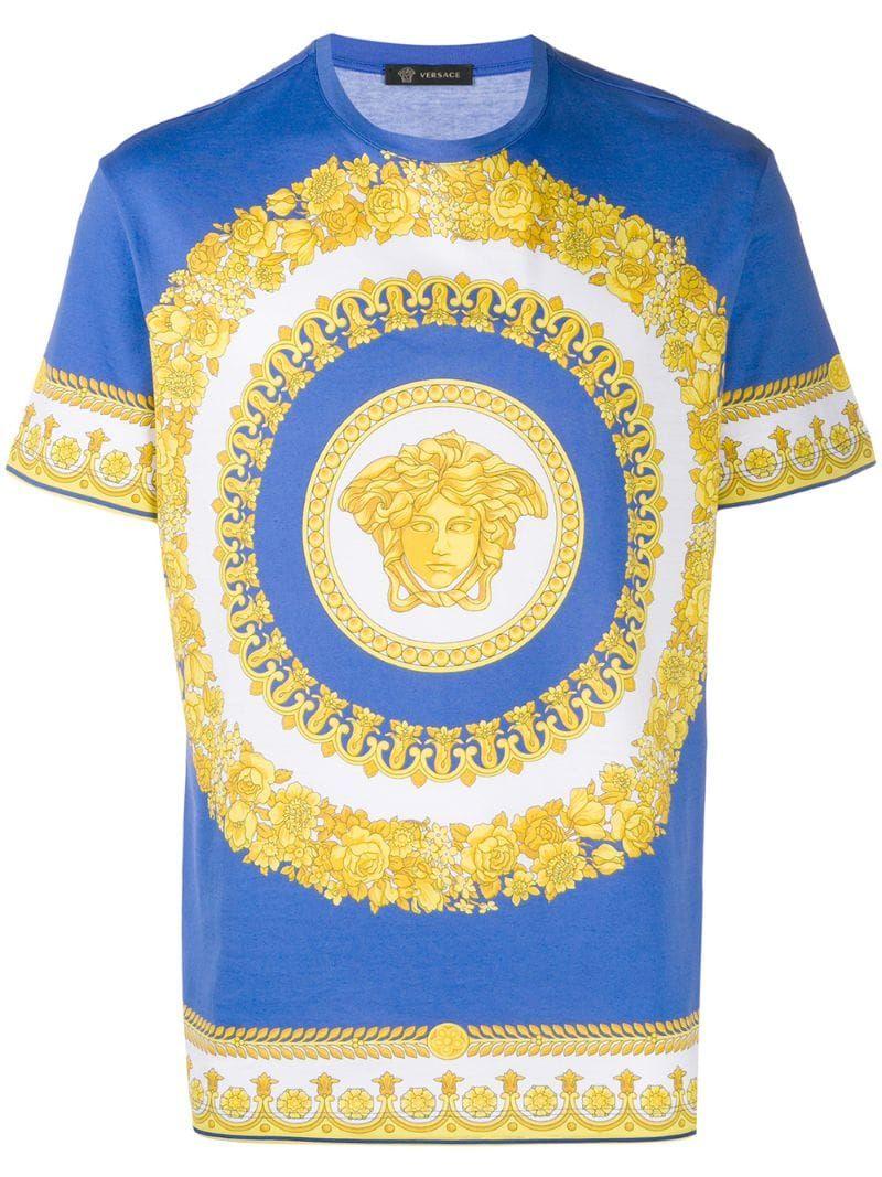 Versace Medusa Print T Shirt Farfetch Print T Shirt Versace T Shirt Versace Men