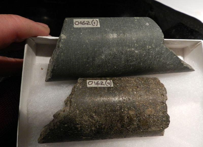 Kimberlite kimberlite drill cores from 320