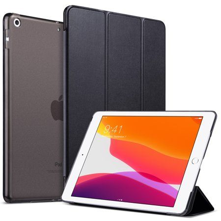 iPad 10.2 Case,Fits iPad 7th Generation 2019,Ulak Slim Lightweight Trifold Smart Shell with Auto Sleep/Wake,Premium Shockproof Translucent Frosted Back Cover for iPad 7th Gen 10.2 inch, Black - Walmart.com