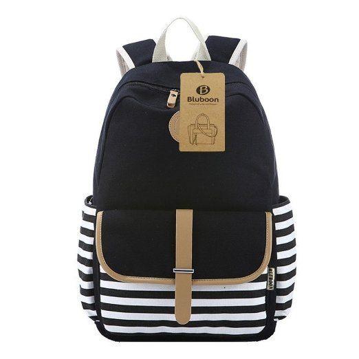 16781cba08746 BLUBOON Schulrucksäcke Rucksack Damen Mädchen Vintage Schule Rucksäcke mit  Moderner Streifen für Teens…