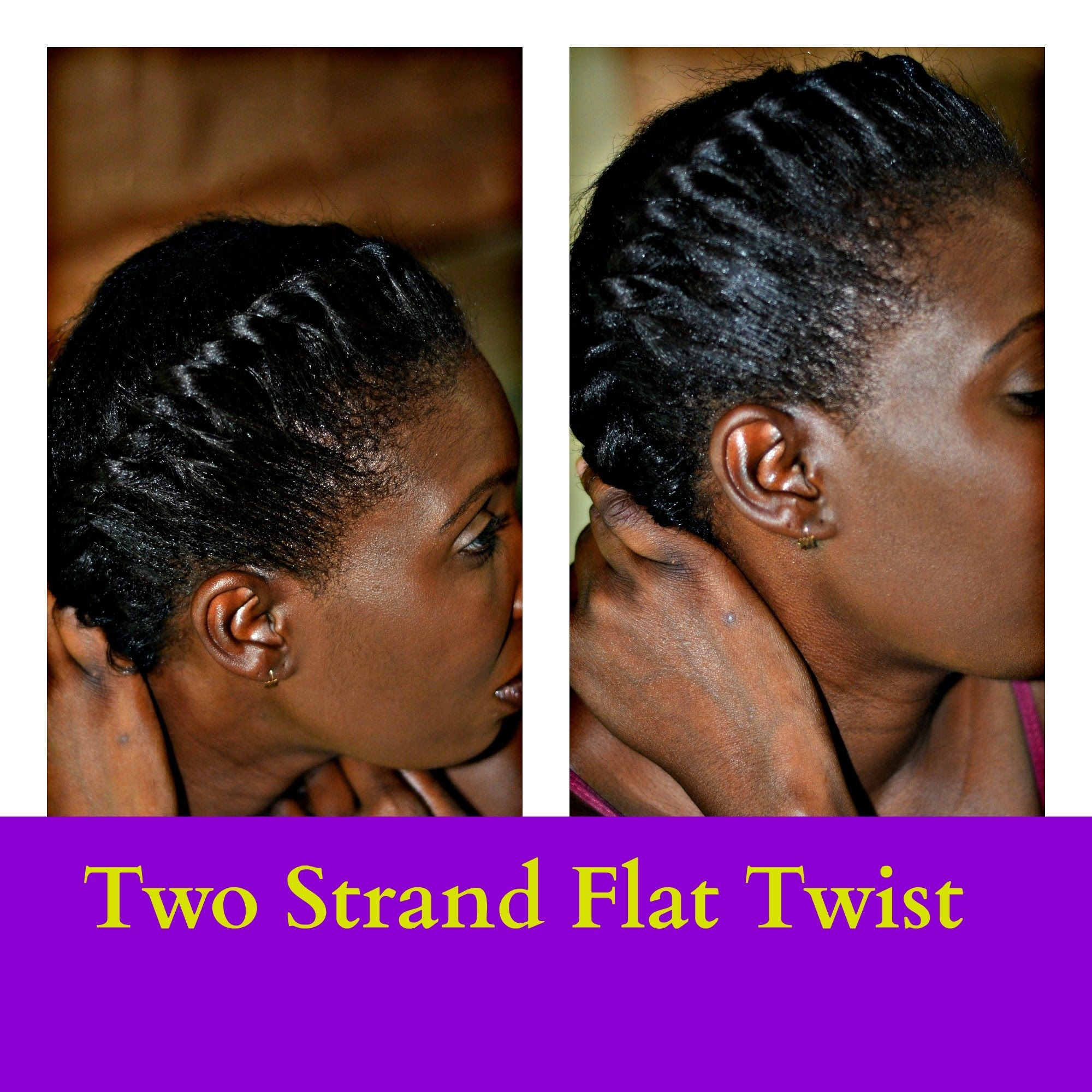 Easiest way to flat twist (step by step) | flat twist out for.