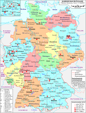 List of cities and towns in Germany - Wikipedia | Travel Stuff ...