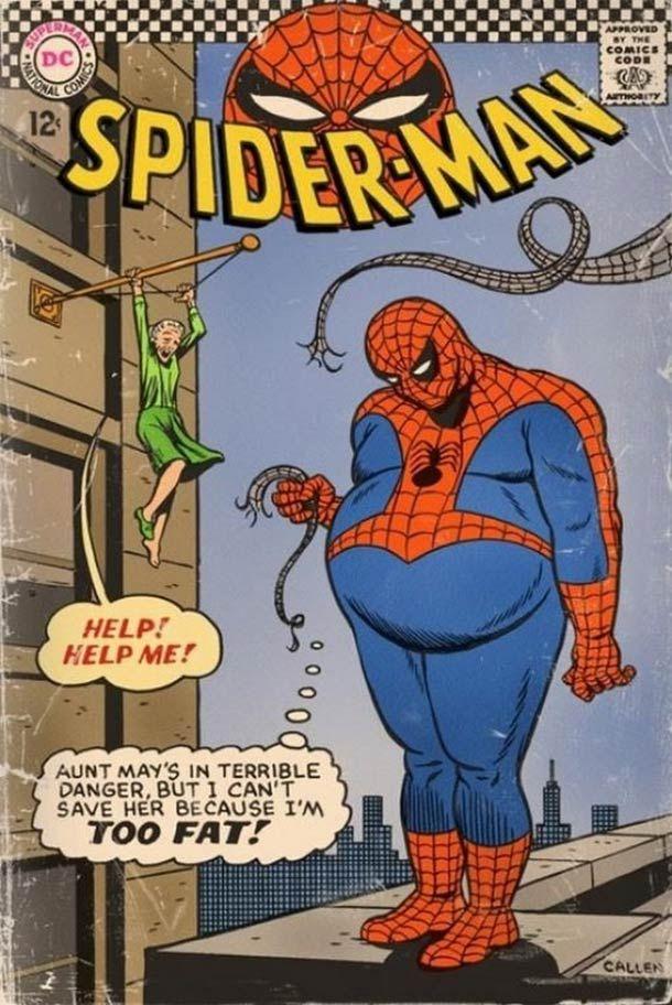 Black spider man fat