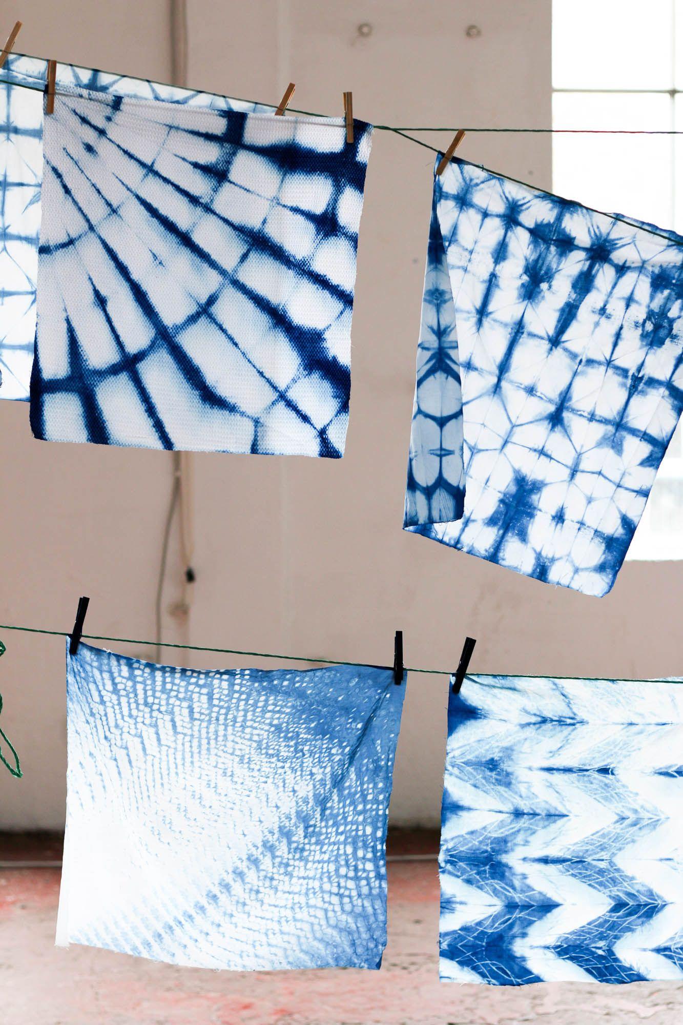 diy selber machen selbermachen shibori textilien f rben diy ideen zum wohnen textilien. Black Bedroom Furniture Sets. Home Design Ideas