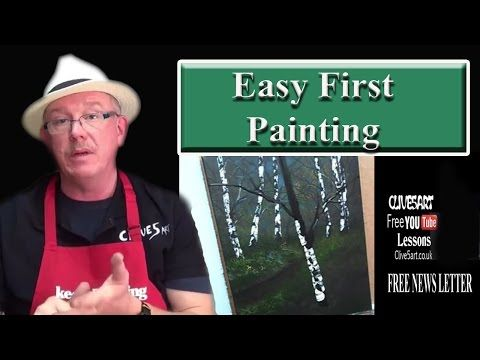 Acrylic Painting for Beginners, Easy First Painting - YouTube