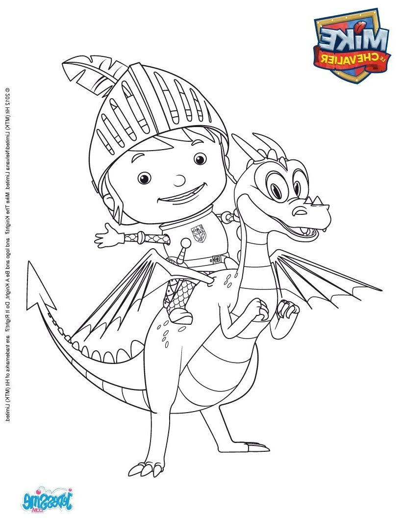 15 Mieux Chevalier Coloriage Photos Mike The Knight Coloring Pages D Coloring Page