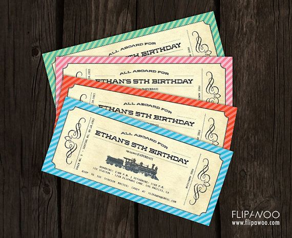 photo relating to Printable Polar Express Tickets Boarding Passes referred to as Basic Educate Invitation Ticket Boarding P Style and design for a