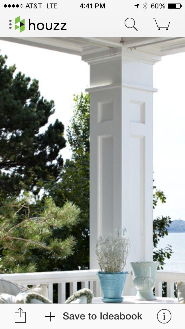 Shaker Style Trimmed Column Home Decor New