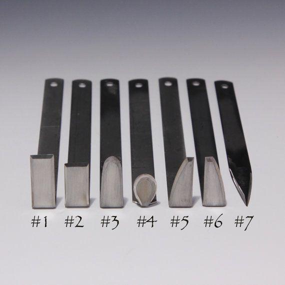I migliori strumenti in acciaio inox ceramica rifilatura / chiacchiere (set di 7) dal maestro Potter HsinChuen Lin 林新春
