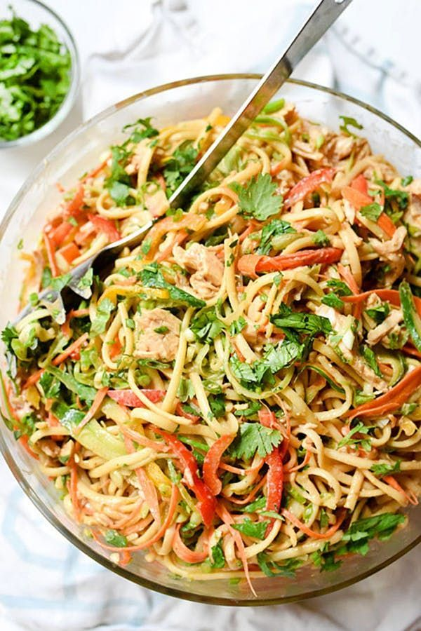 Peanut Noodles with Chicken. 13 Picnic-Perfect Pasta Salad Recipes