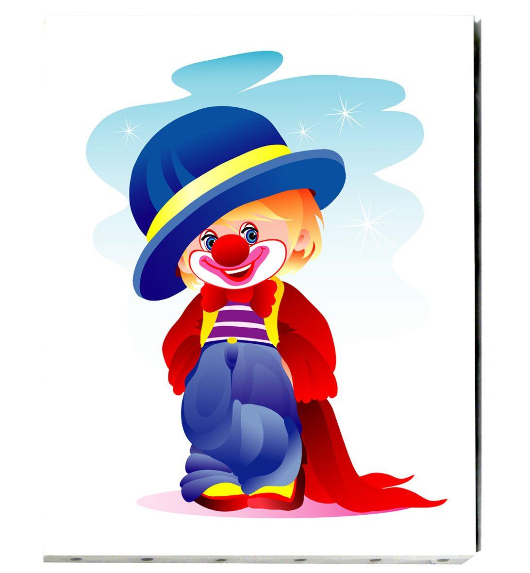 Tableau De Toile Tendue Pour Enfant Le Petit Garcon Fait Le Clown Clown Art For Kids Prints