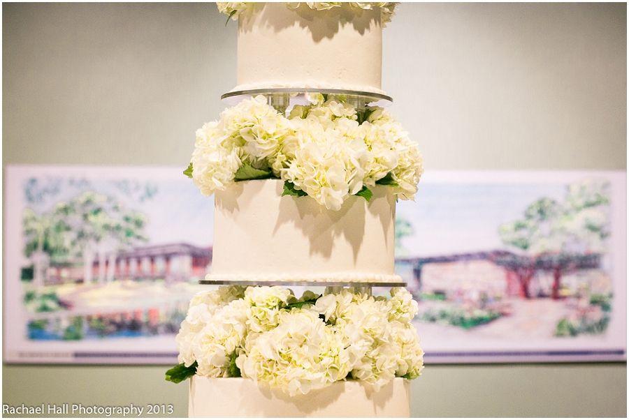 White Multi Tiered Wedding Cake With Fresh Flowers Witte Museum San Antonio TX