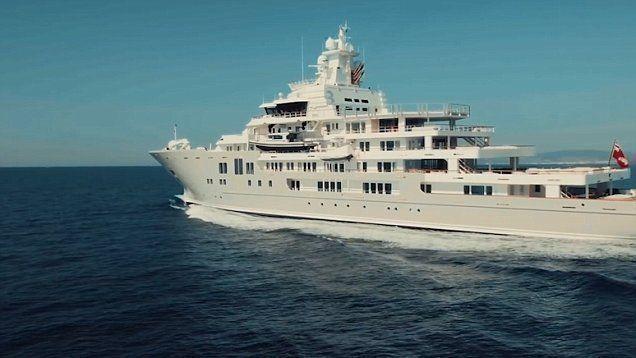 a look inside ulysses luxury yacht featuring a modern luxurious rh pinterest nz