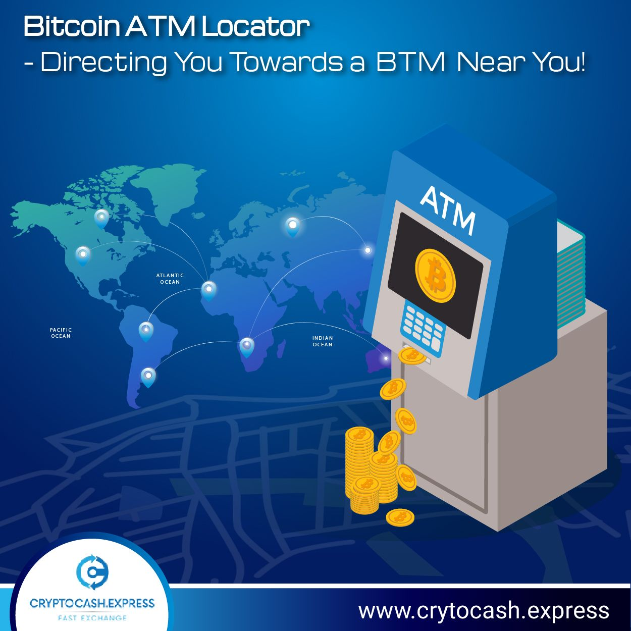 Click on www Cryptocash Express to find Bitcoin ATM in your