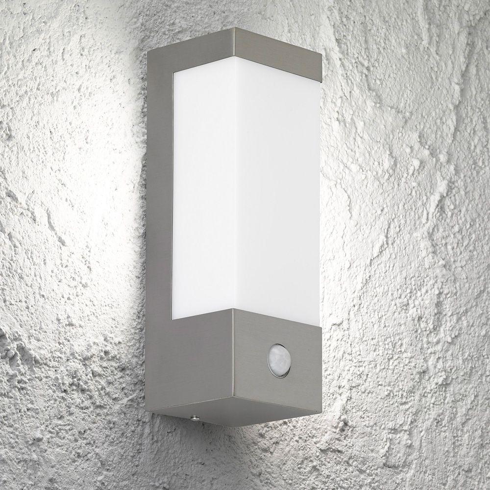 Led Outdoorlampe Rechteckig Mit Bewegungsmelder Und Einer Hohe Von 26 Cm Mit Bildern Led Leuchten Led Bewegungsmelder