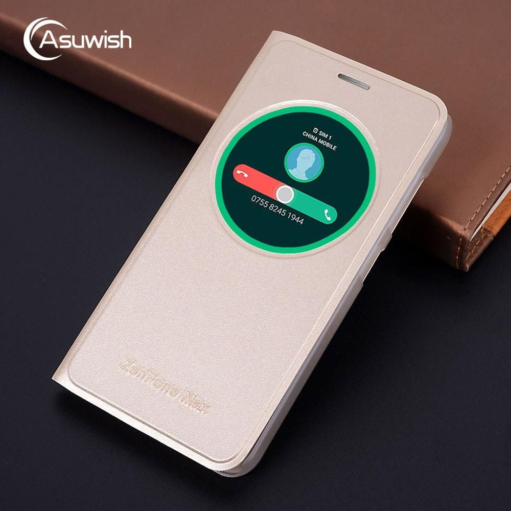 best service a62a8 3ade7 Asuwish Smart View Flip Cover Leather Case For Asus Zenfone Max Pro ...