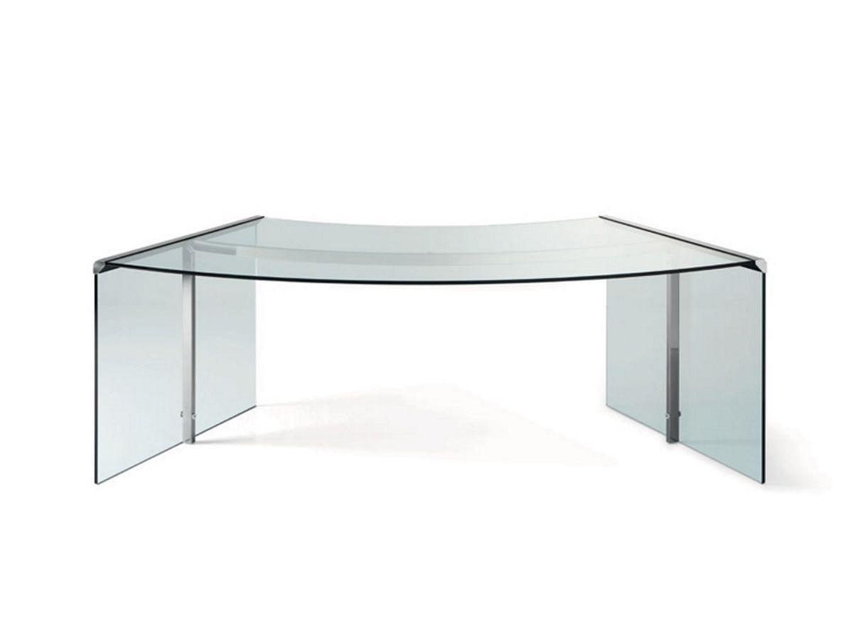 Gallotti radice glas schreibtisch president senior for Schreibtisch holz glas