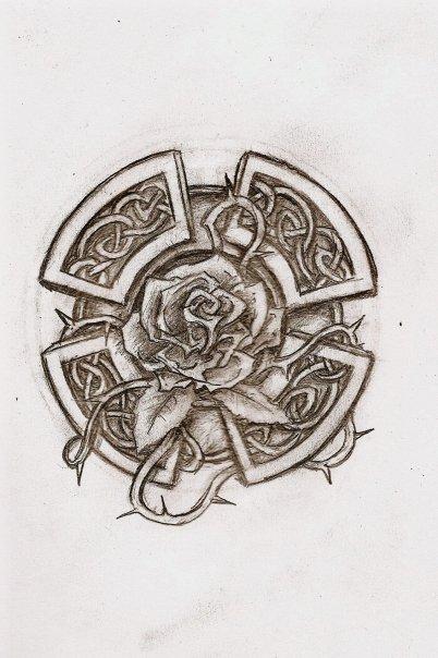 Celtic Rose Tattoo : celtic, tattoo, Celtic, Tattoos,, Anniversary, Tattoo