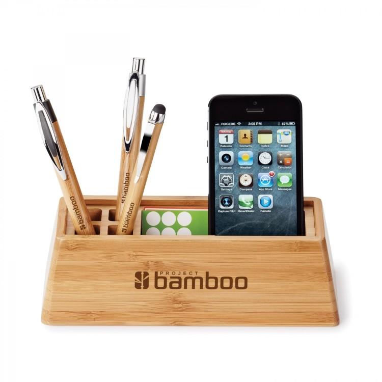 Bamboo desktop organizer Corporate gifts, Office