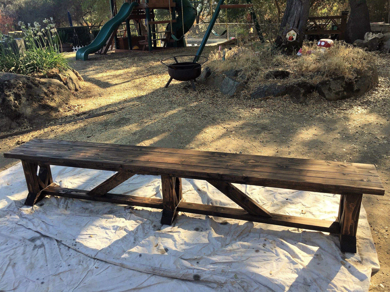 Diy Extra Long Exterior Wood Bench