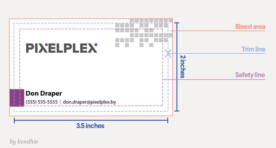 Visitenkarte Größe Pixel Pro Zoll Plus Visitenkarte Größe