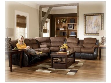 Shop For Signature Design Wedge, 3150077, And Other Living Room Sectionals  At Ashley Furniture Home Stores In Salt Lake City, UT. The Two Toned  Contemporary ...