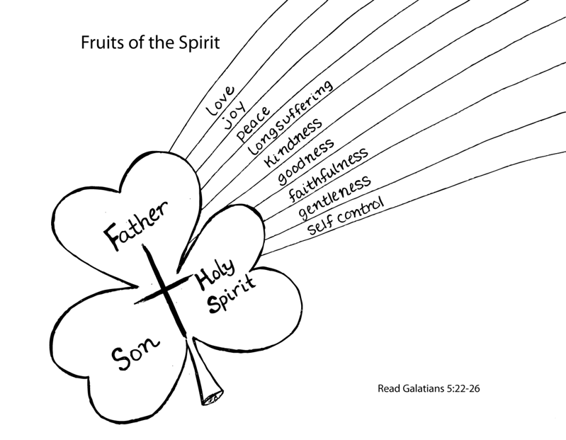 Fruits Of The Spirit Coloring Page St Patricks Day Crafts For Kids Sunday School Crafts Sunday School