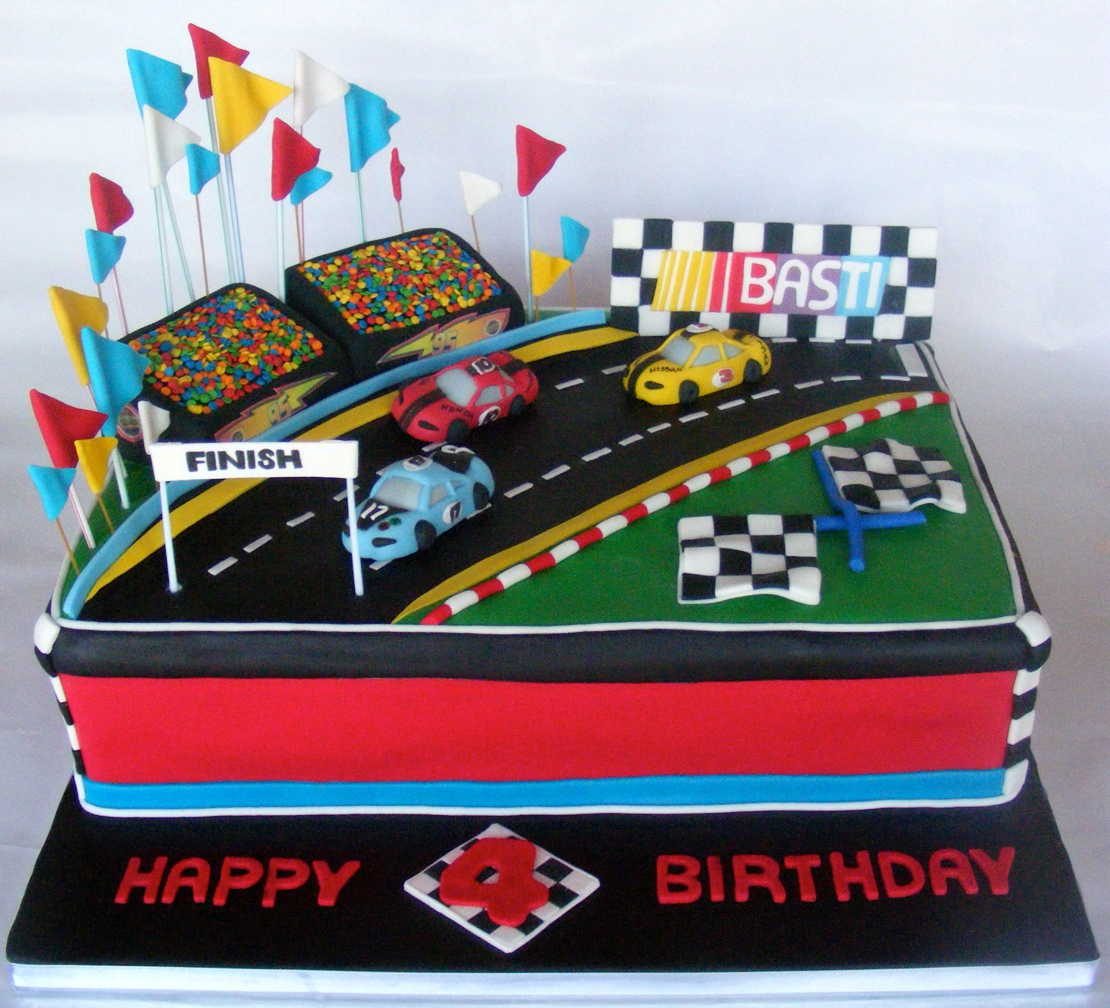 A Cake Idea For Someone Who Loves Racing