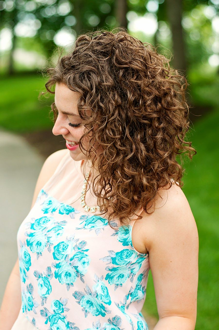 Refreshed a giveaway curly hair style and perms