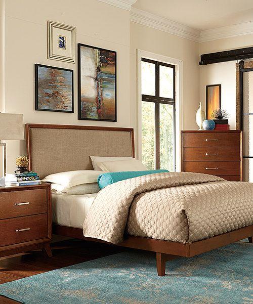 Cabecera madera con tela y muebles como los del cuarto de mi ...