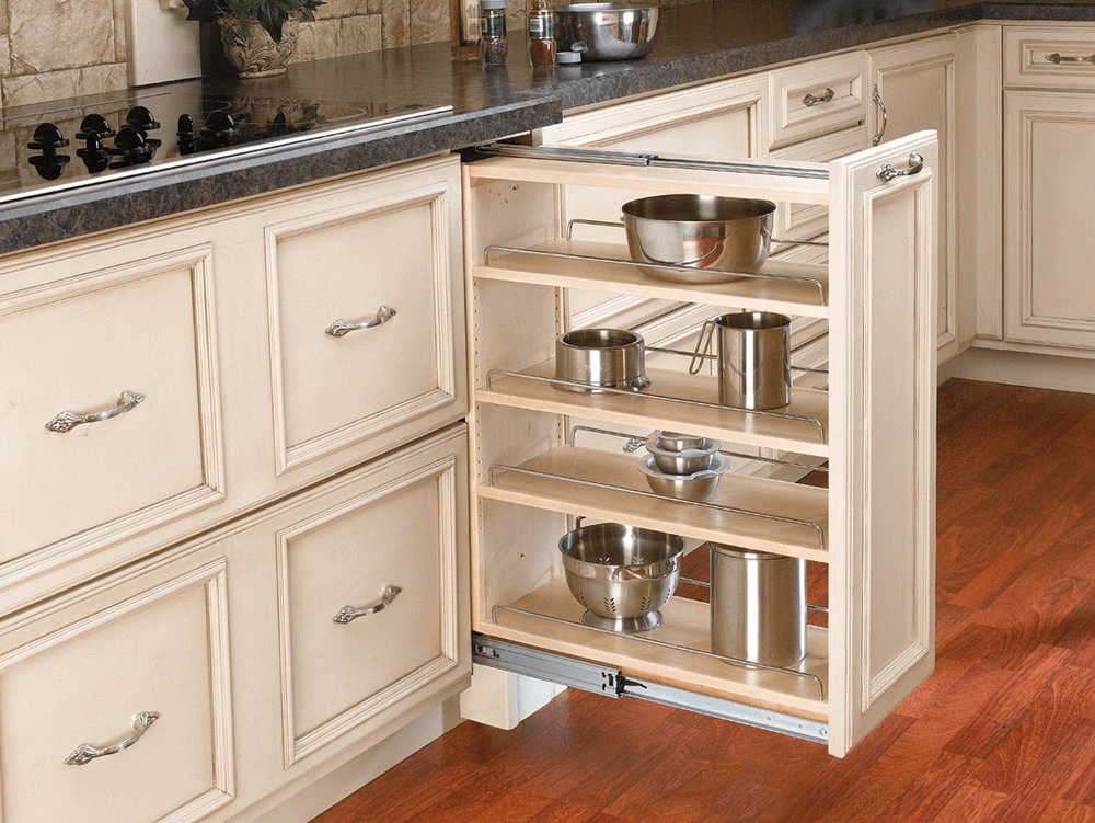 Multiple Storage Pull Out Drawers Kitchen Cabinets Kitchen Design Small Kitchen Design Decor Kitchen Appliances Design