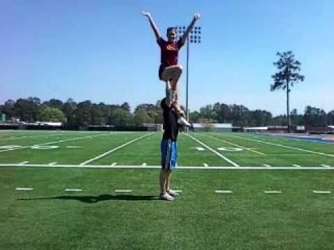 Cheerleading Chair Stunt Cheerleading Videos Cheerleading Stunts