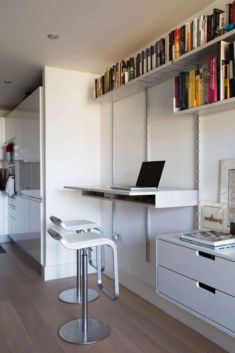 aménagement-bureau-mural-maison-tabourets-hauts.jpg (750×1125 ...