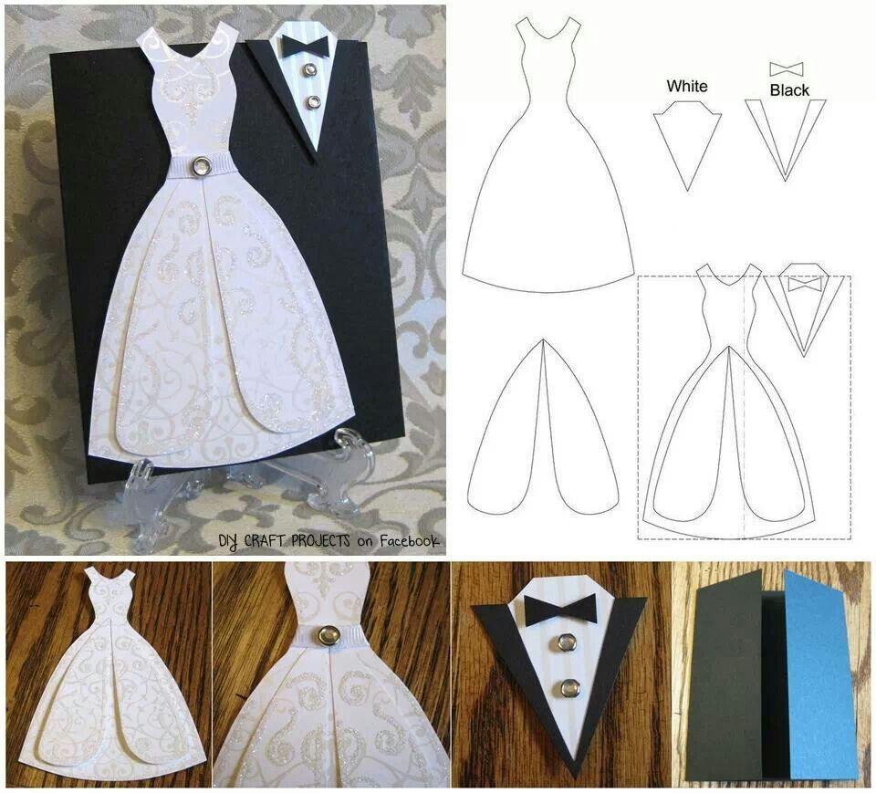 Wedding Card Ideas To Make: Groom And Bride Card Idea