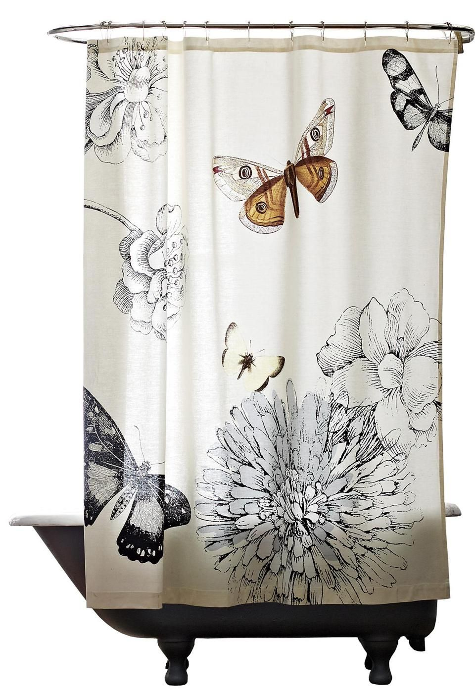 BUTTERFLY SHOWER CURTAIN 49 At West Elm 160 Brookline Avenue Boston 617 450 9500 And Wayside Commons 6 Road Burlington 781 221 5626