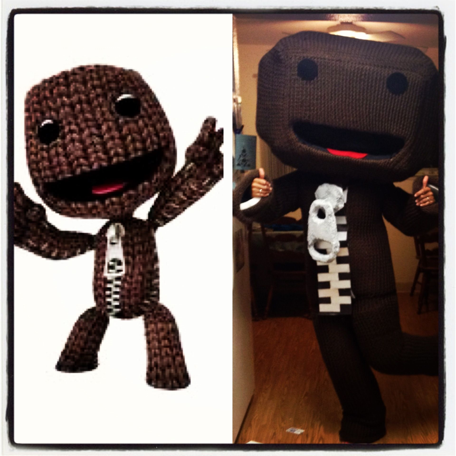 My home made Little Big Planet costume :) | DIY | Little ...