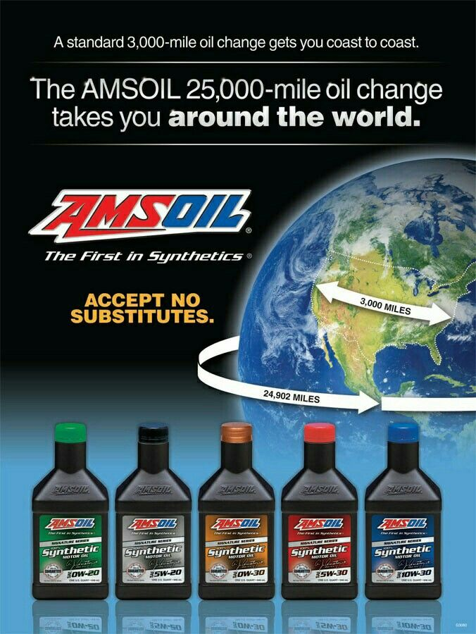 Amsoil Signature Series Engine Oils Amsoil Synthetic Oil Oil