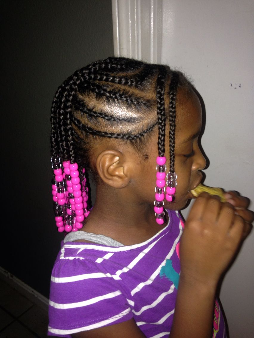 Braided Mohawk Side View Natural Hair Beads Kid Hair Styles In