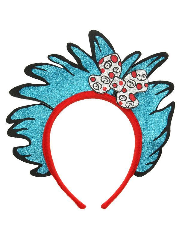 Thing 1 and 2 Glitter Child Headband Book Character Costume Ideas