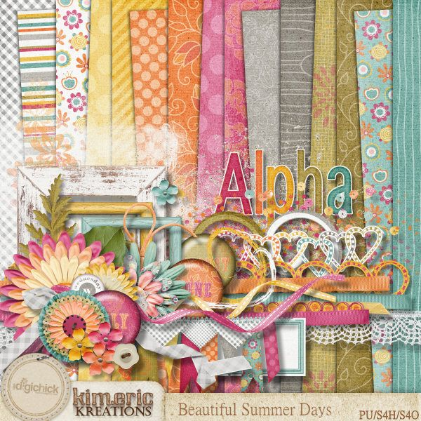 wonderful summer colors  { Beautiful Summer Days by Kimeric Kreations @ The Digichick Shop }