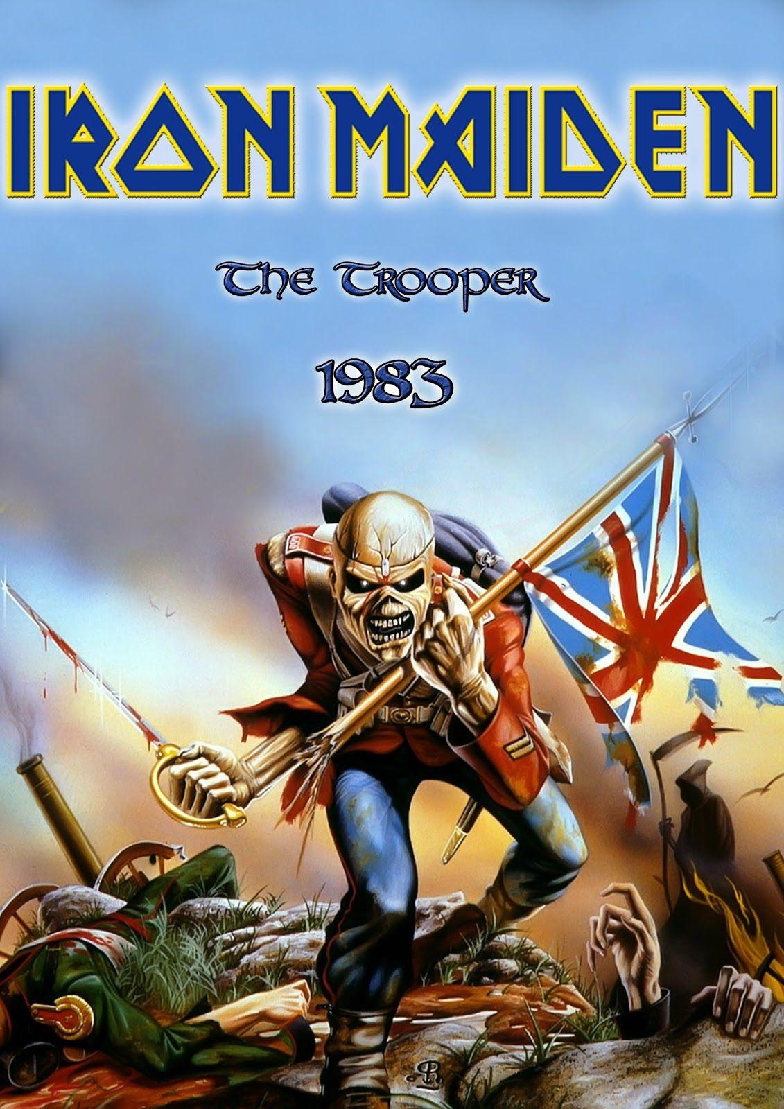 Iron Maiden The Trooper Wallpaper Portadas de álbumes de
