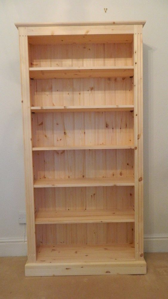 Solid Pine Bookcase Tall X Wide Hand Made In BARE WOOD In Home, Furniture U0026  DIY, Furniture, Bookcases, Shelving U0026 Storage