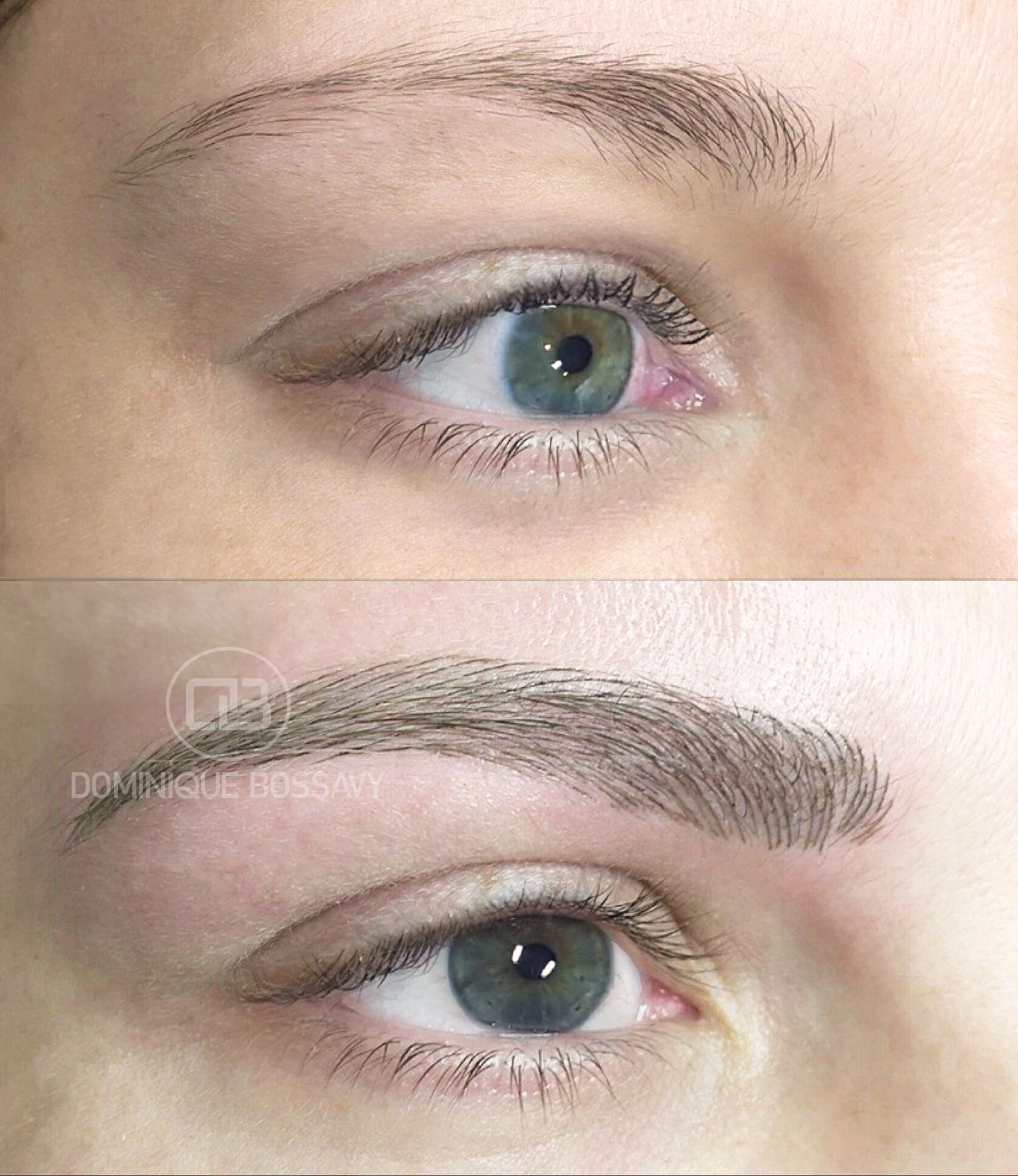 Before And After Nano Color Infusion On Eyebrows Permanent Makeup