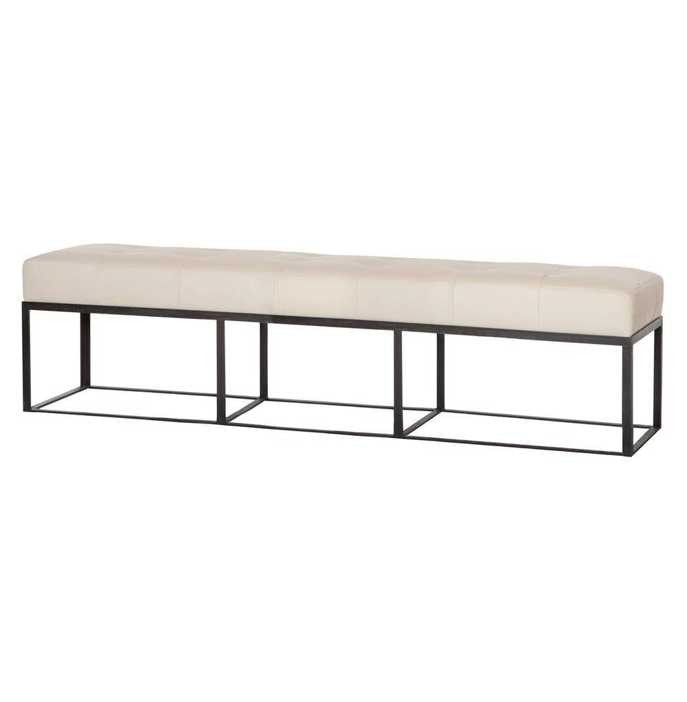72 inch dining bench bench cover cruz modern classic ivory leather 72 inch bench kathy kuo home cisco brothers