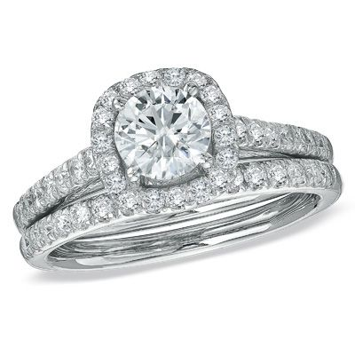 Pin By Zales On Halo Engagement Rings Bridal Ring Set Bridesmaid Jewelry Sets Wedding Rings Engagement