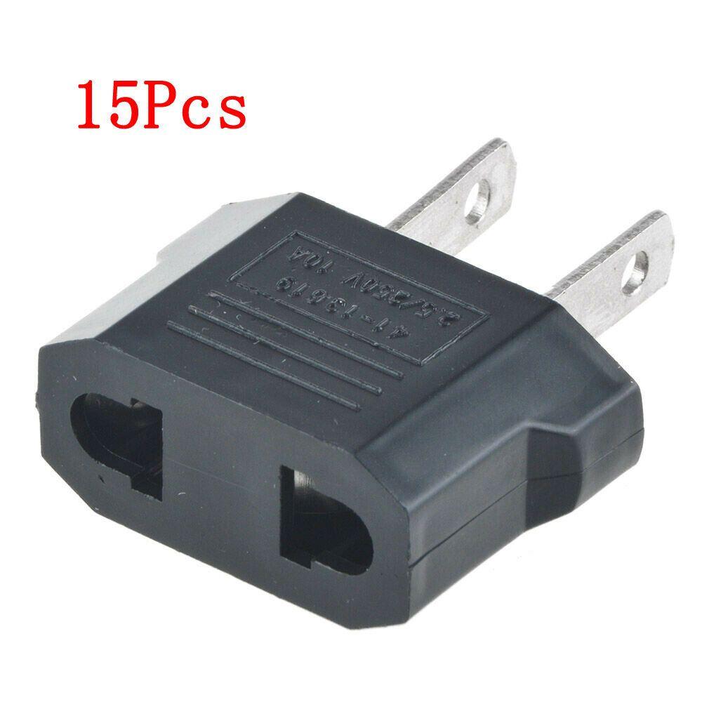 European Euro EU to US USA to Euro Travel Charger Adapter Plug Outlet Converter