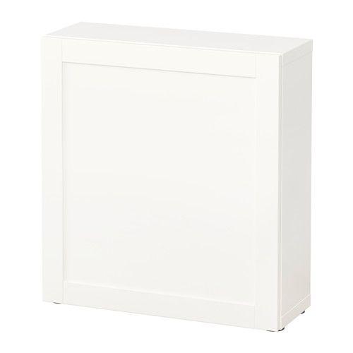 BESTÅ Hylle med dør - Hanviken hvit - IKEA