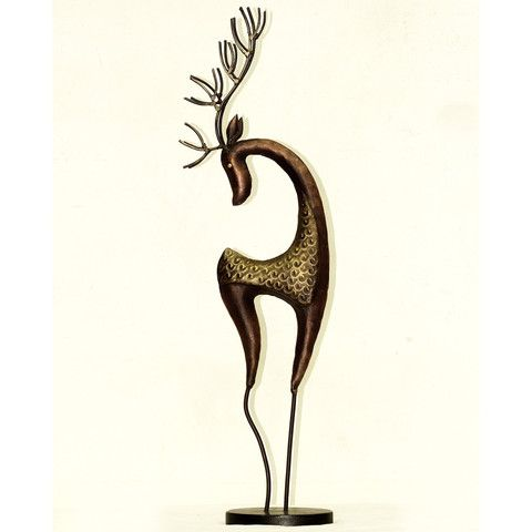 Beautiful deer showpiece for your office , living room or bedroom. Height : 71 cms