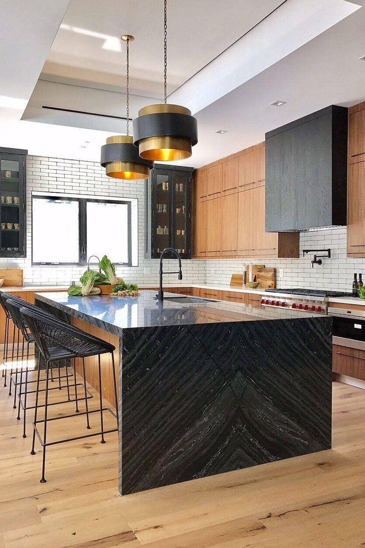 20+ Black Countertop Backsplash Ideas Tile Designs, Tips & Advice ...